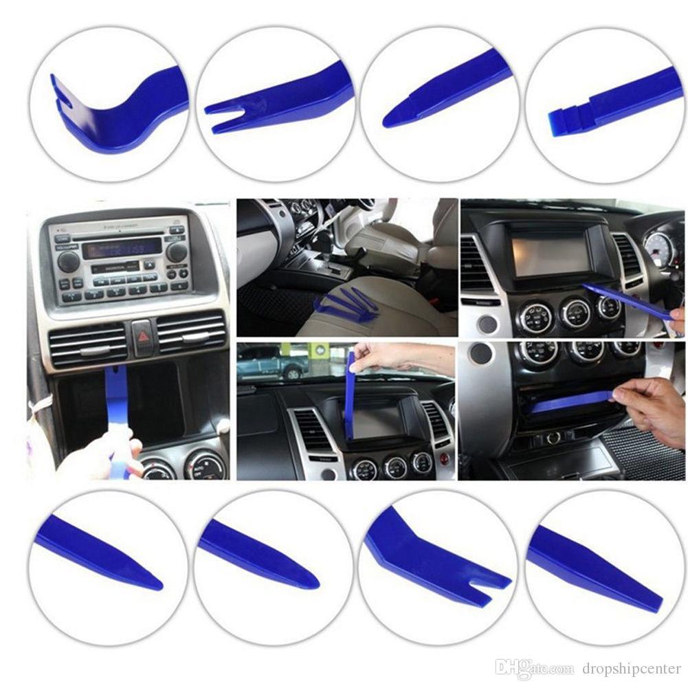 7pcs Hard Plastic DIY Car Repair Tools Car Audio Maintenance Kit Interior  Dash Trim GPS Door Panel Opening Tools Removal Set