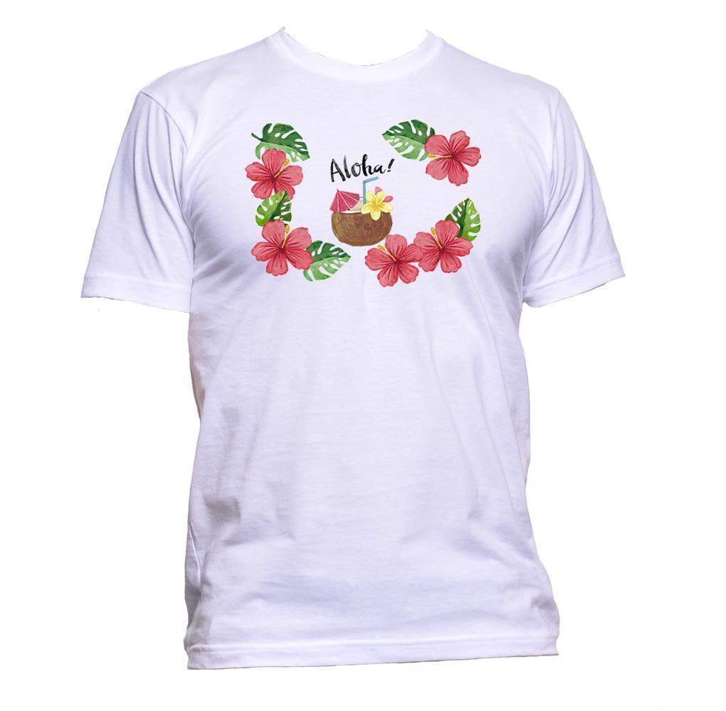 86bc0e1fa Compre Aloha Hawaiian Tropic Con Camiseta De Coco Y Flores Para Hombre Para  Mujer Regalo Unisex A  12.59 Del Jc09