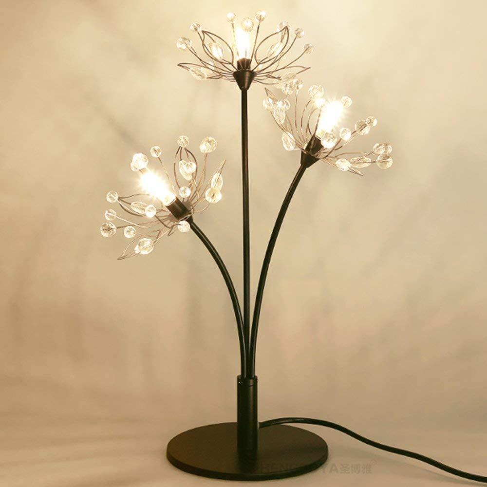 Crystal Led Bedside Table Lamp Creative Metal Night Light Branch