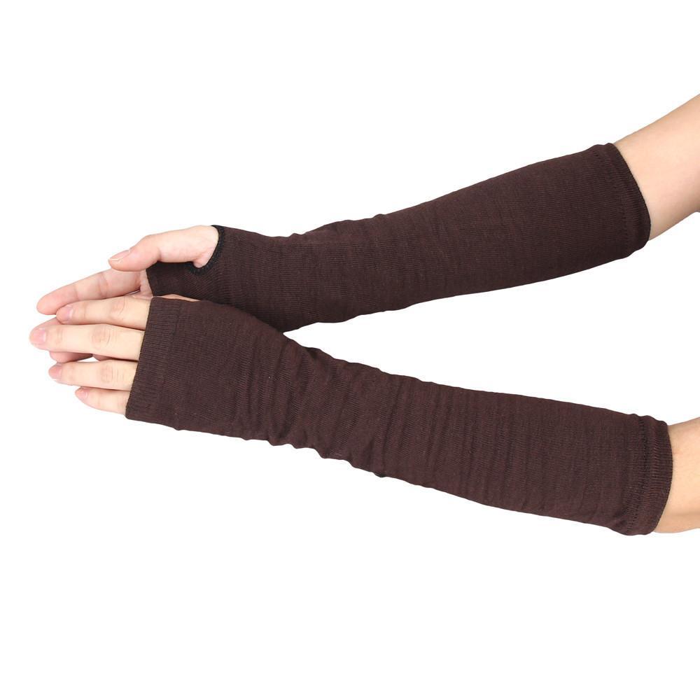 Sıcak örme yün parmaksız eldiven bayanlar kış örme yarım parmak manşet eldiven kadın kış uzun eldivenler unisex 2018 Yeni
