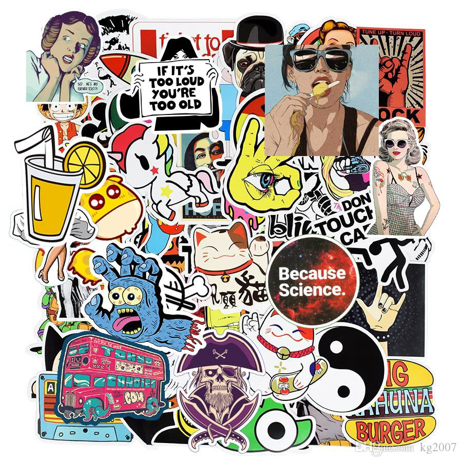 Diy aufkleber poster wandaufkleber für kinderzimmer wohnkultur aufkleber auf laptop skateboard gepäck wandtattoos auto aufkleber 500 stücke