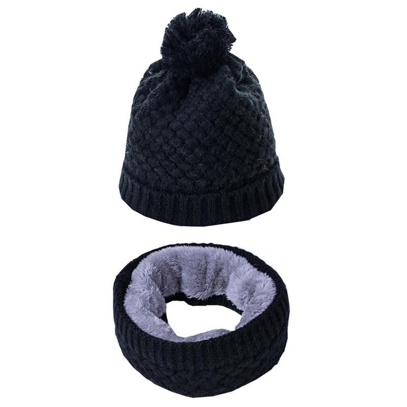 Compre Sombrero De Las Mujeres De Otoño Invierno Gorras Conjunto Bufanda De  Punto De Lana Bufanda Caliente Gruesa A Prueba De Viento Multifuncional  Conjunto ... 9e65cd6ba5a