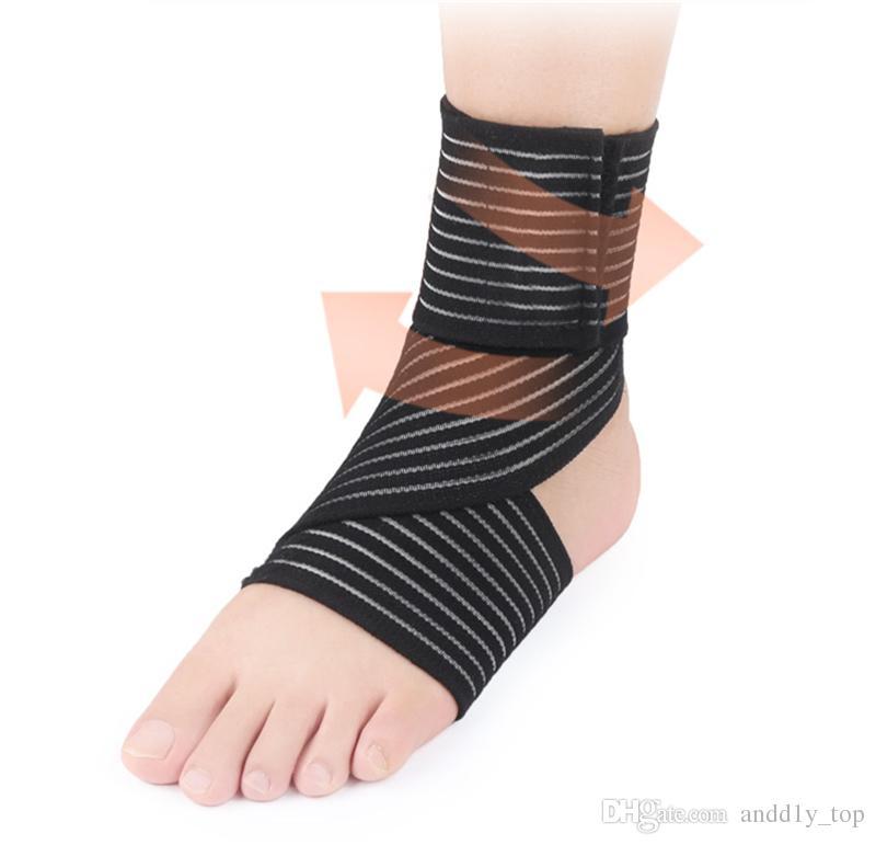 2018 Спорт лодыжки протекторы мужчины женщины ноги нейлоновые ремни баскетбол футбол работает бинты наручи лодыжки протекторы