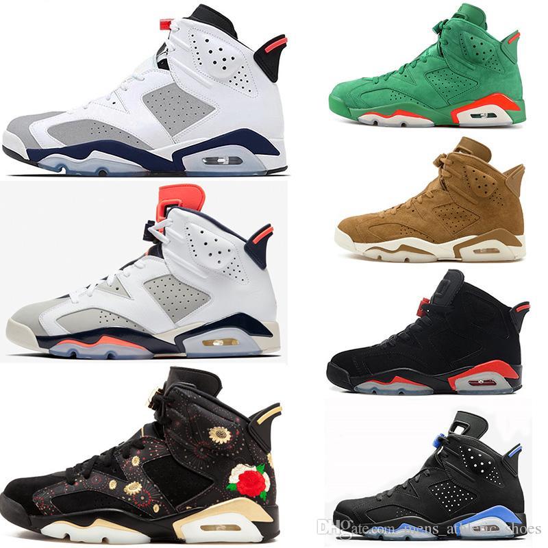 dd91fd49d16243 2019 Tinker CNY Basketball Shoes 6 6s For Men Gatorade Green Golden Harvest  Mens Luxury Designer Shoes Maroon Sport Blue Men SIZE US7 12 From ...