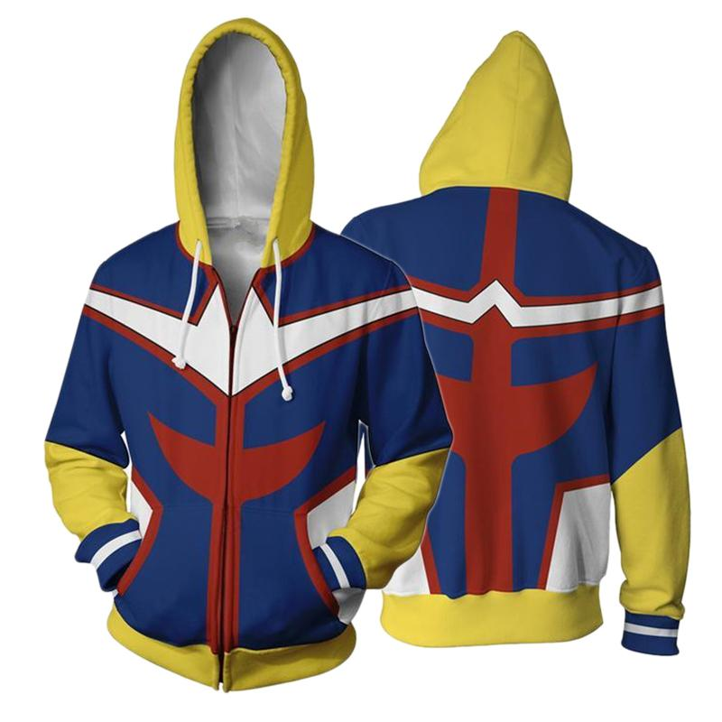 2019 Anime My Hero Academia All Might Cosplay Hoodies 3d Printed
