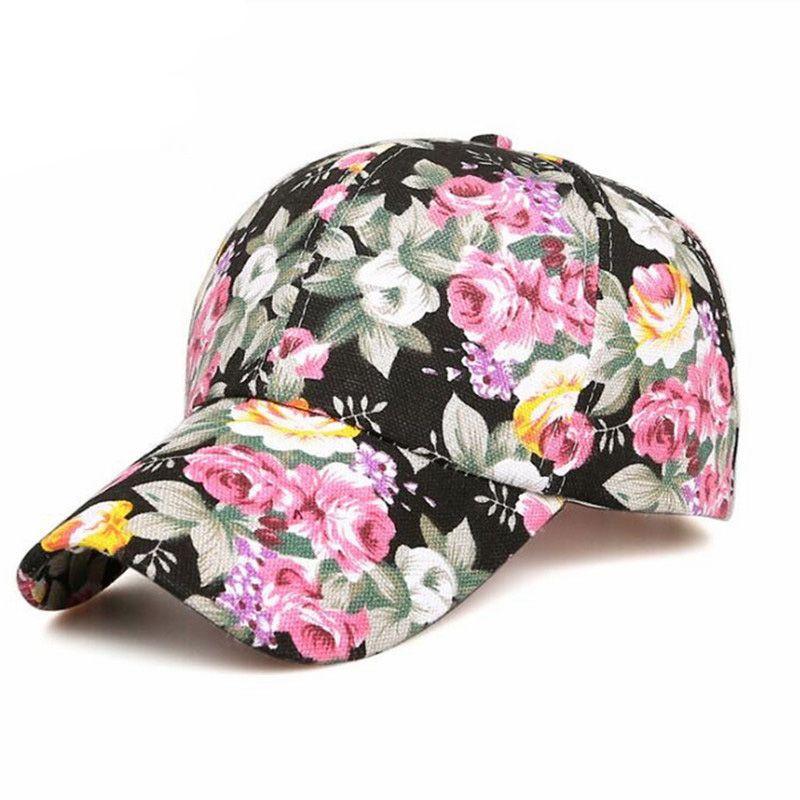 7f4d21a778936 Summer Beach Fashion Flower Sun Hat Breathe Freely Mesh Bone Floral  Baseball Cap For Women Snapback Gorras Fitted Cap Baseball Caps For Men  From Jtgmall