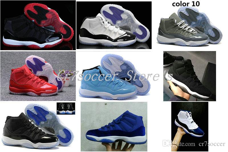 new product 2dc44 e19d9 High Quality XI 11 White Black Dark Concord Genuine Basketball Shoes Sport  Sneakers 378037 107 528895 153 Bred Legend Blue Space Jam Sneaker Jordans  Shoes ...