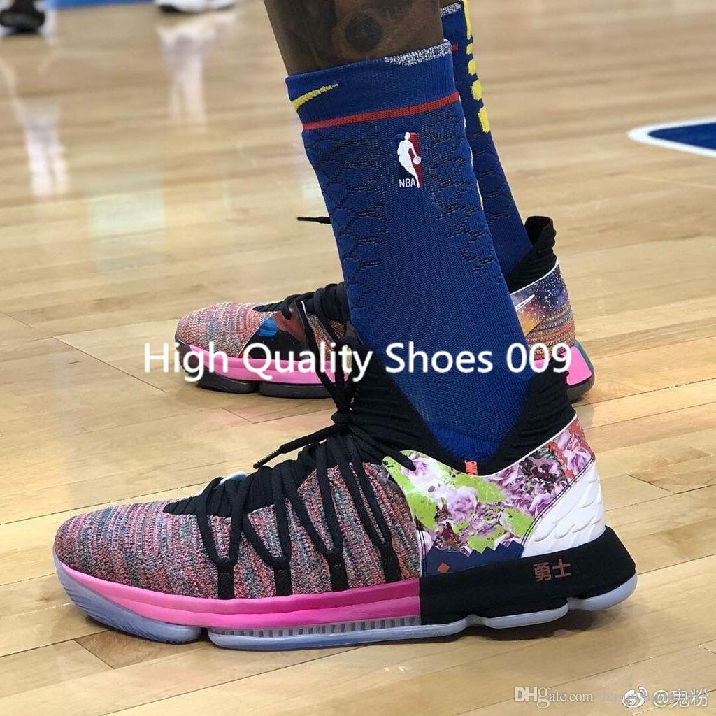 440a851a8da 2018 Mens Breathable KD 10 X Yuanyang Basketball Shoes For Kevin Durant 10s  Airs Cushion KD 10 Athletic Sports Sneakers US 7 12 Shoes Basketball Girls  ...