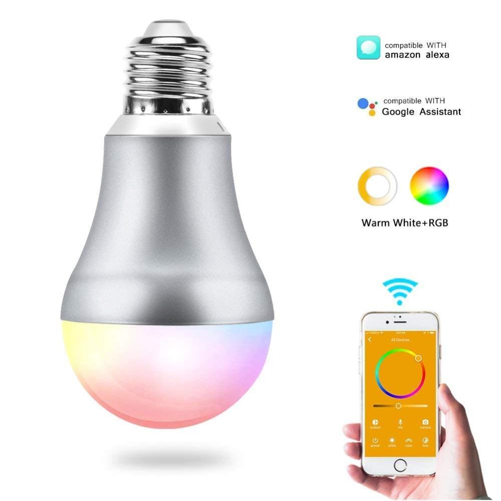 Großhandel Cr60 Led E27 Wifi Smart Glühbirne Rgbw App Fernbedienung