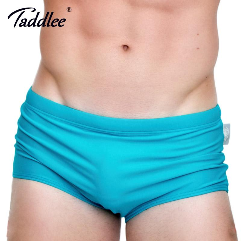 58b91cae6c Taddlee Brand Men's Swimwear Swimsuits Swim Boxer Briefs Solid Color Sexy Men  Swimming Surfing Board Shorts Gay Basic Brazilian