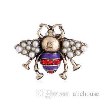 Crystal Pearl Brooch Retro Cute Bee Pearl Pin Alloy Gemstone Brooch Bee  Brooch Fashion Pearl Crystal Bee Brooches Bees Pins Bee Brooch Bee Brooches  Bees ... 2450a6093172