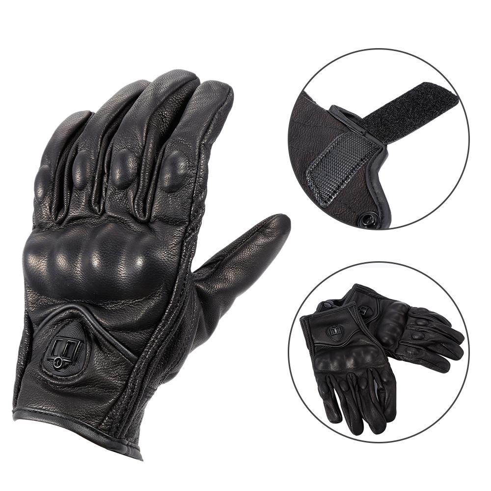 Gants de moto Full Finger Touchscreen Gants Hommes Gants de moto Cyclisme Racing Gants d/équitation de motocross Sports de plein air X-Large, Black