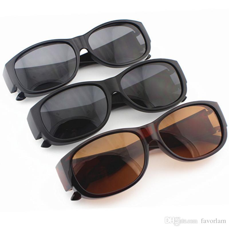 1d190c1741 2019 Polarized Lens Covers Sunglasses Fit Over Prescription Glasses Cycling  Sun Glasses UV400 Wrap Around Eyeglasses From Favorlam