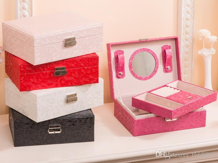 Коробка ювелирных изделий контракт Европейская принцесса Корея рука действовать роль ofing попробовал рабочий стол, чтобы получить коробку деревянных сережек коробка ювелирных изделий остроумие