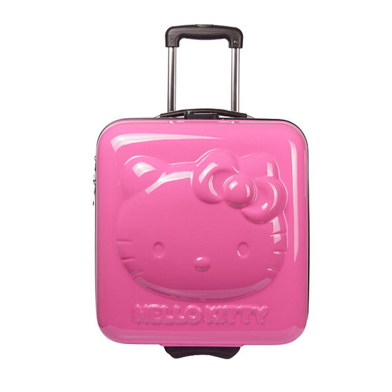 Hot!lovely Hello Kitty 18 Inches Girl Students Cartoon Pull Rod Box Trolley Case 3d Child Travel Luggage Suitcase Boarding Box With The Best Service Luggage & Travel Bags Carry-ons