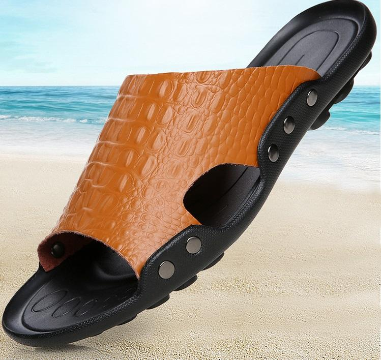 98d764986cb98b Men Slippers Summer Flat Summer Men Shoes New Fashion Breathable ...