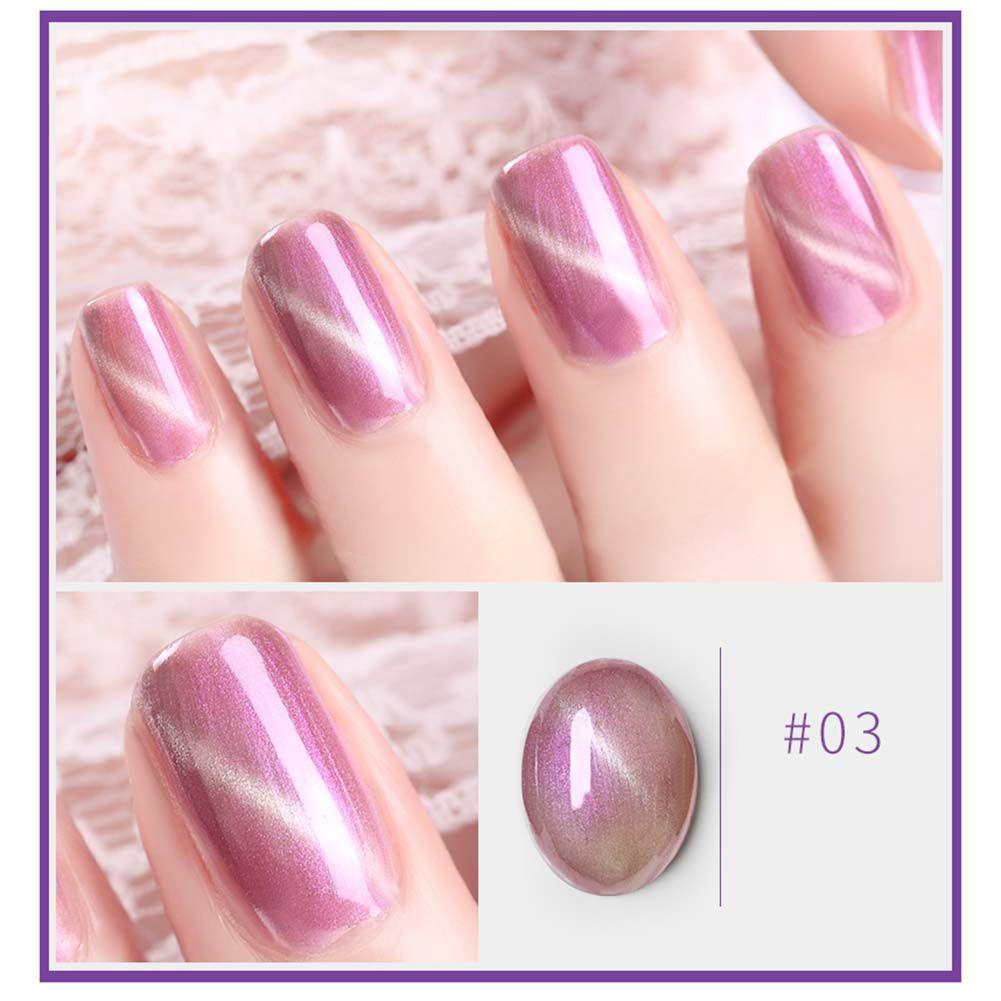Uv Gel Nail Polish Long Lasting Glitter Cat Eye Tips Decoration Gel
