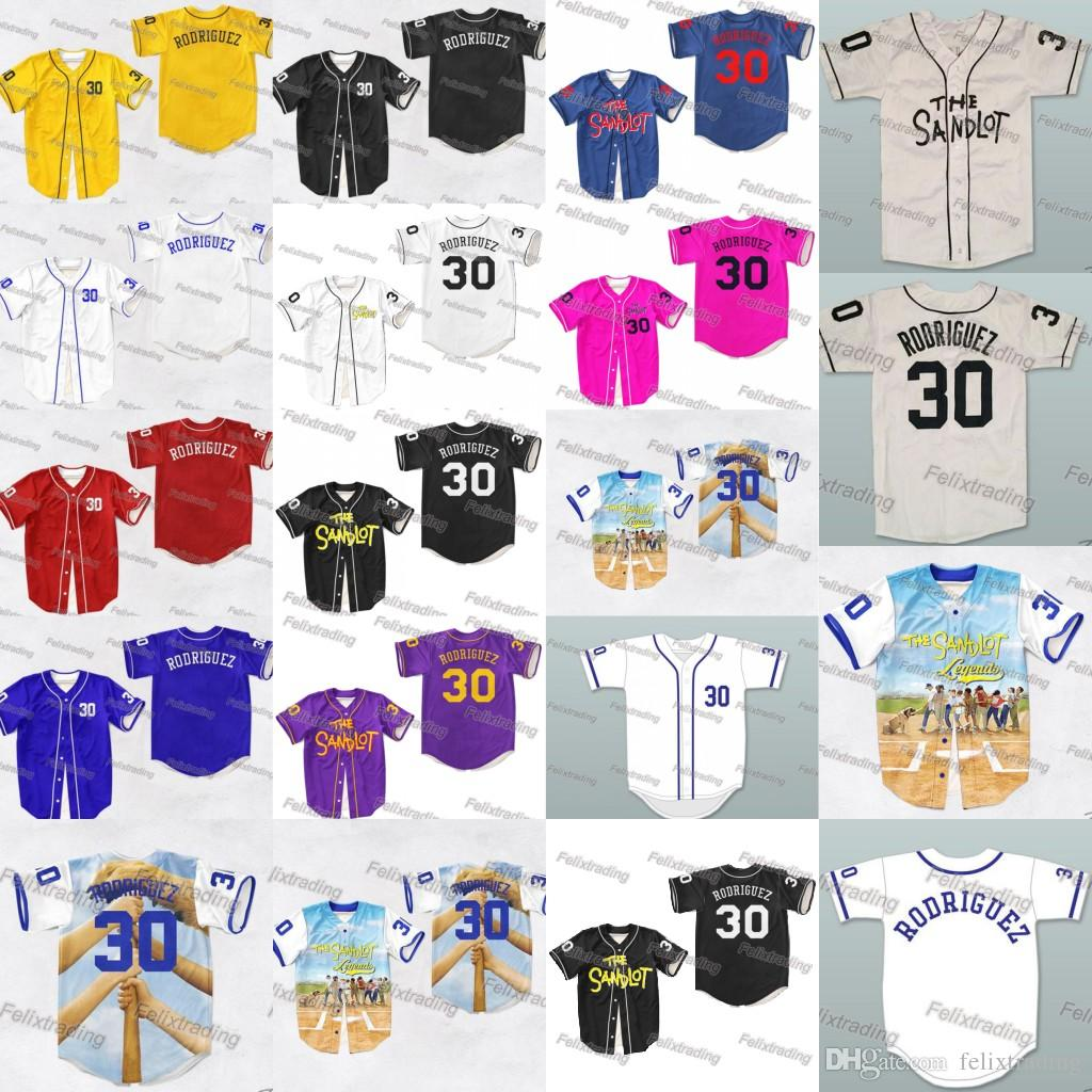 2019 Benny  The Jet  Rodriguez 30 The Sandlot Legends Baseball Jersey Alan   Yeah Yeah  McClennan 11 Weeks 23 DeNunez 45 Squints 5 Jersey From  Felixtrading 83d82f457