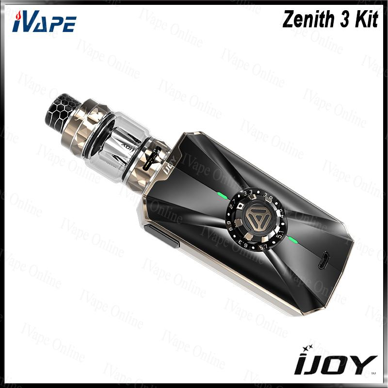 iJOY Zenith 3 Kit 300 W avec Diamant Sous ohm Réservoir iJoy Zenith 3 Double 20700 Batteries Mod Réglable Tension Bouton 100% D'origine