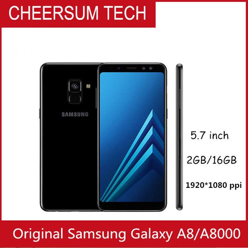 unlocked Refurbished Original Samsung Galaxy A8 A8000 Cell Phone Octa Core  Rom 16GB/32GB 16 0MP 5 7 Inch Dual Sim 4G LTE