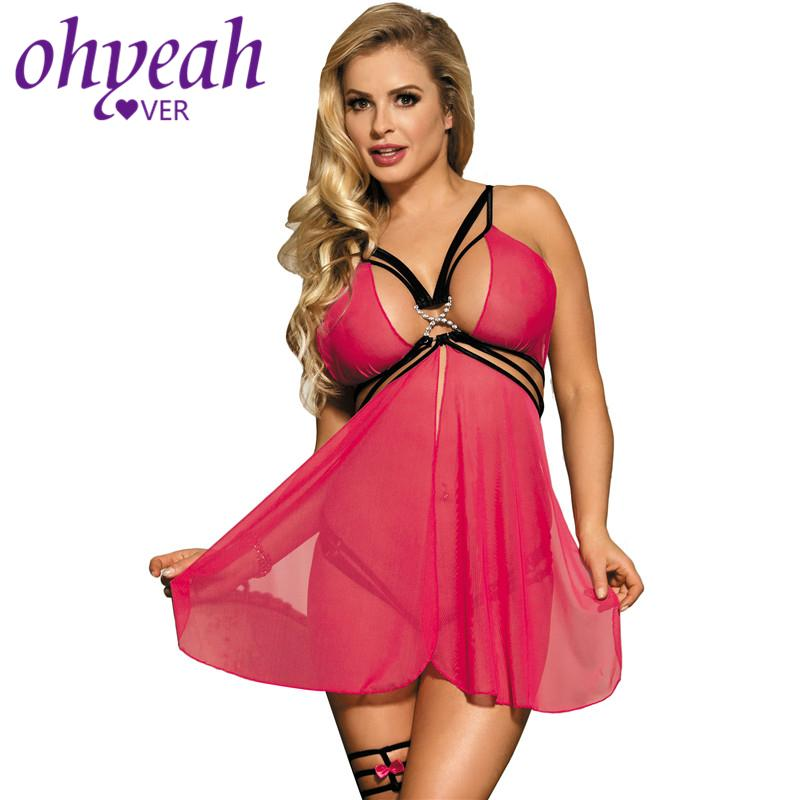 a68f5a17d Ohyeahlover Sexy Costumes Erotic Lingerie Babydoll Vestidos Sexys Eroticos  RM70227 Backless Strappy Mesh Flyaway Babydoll Set Y18102206 Lady In  Lingerie ...