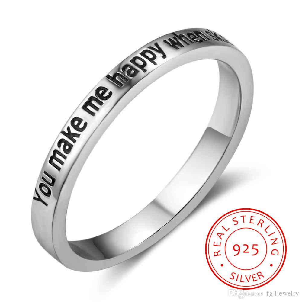 925 Sterling Silver Ring Valentine S Day Gift Personalized You Make