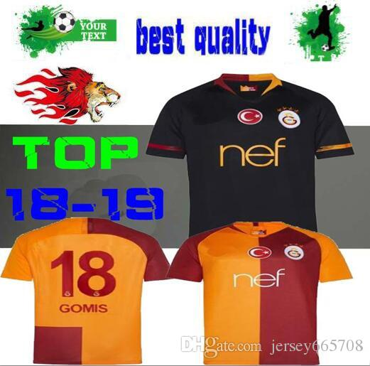 2019 2018 2019 Galatasaray Home Soccer Jersey 18 19 Yellow AWAY Turkey  Nagatomo Football Uniforms CIGERCI BELHANDA FERNANDO FEGHOULI Soccer Shirt  From ... 29cb47add