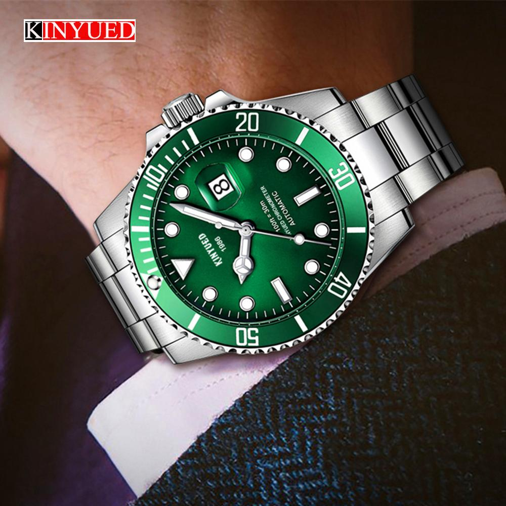 998ab4dfb787 Compre 2018 Caliente KINYUED Reloj Mecánico Automático Para Hombre Relojes  De Primeras Marcas De Lujo De Negocios De Moda Reloj Diver Man Reloj 90 A   65.86 ...