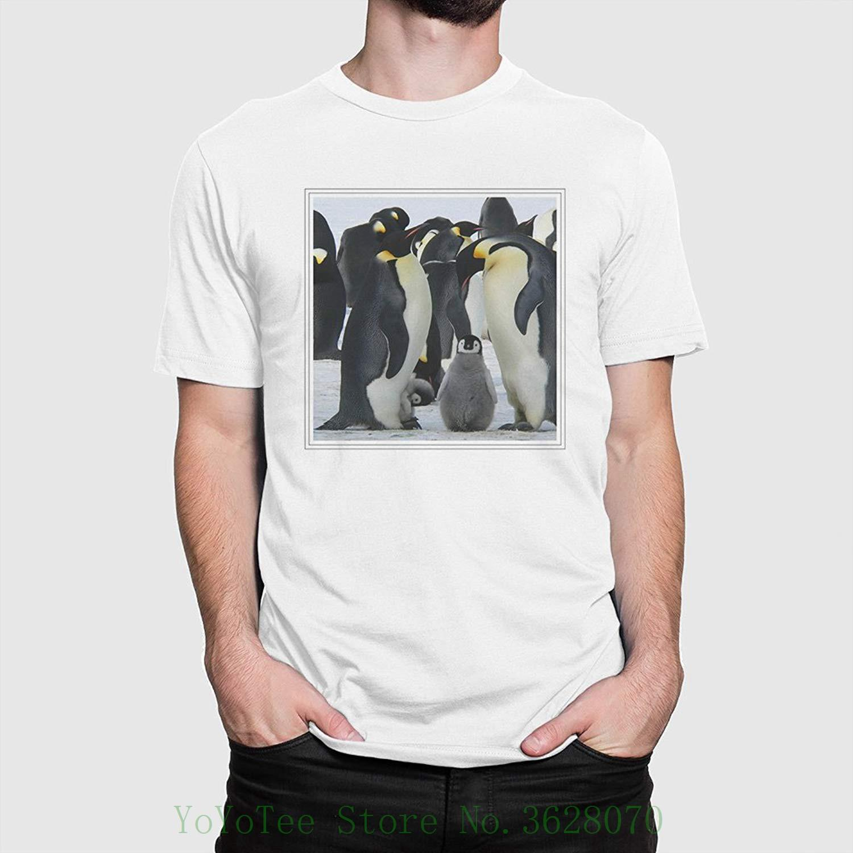 391ef88278d81 Compre Arty Pie Camiseta Varios Tamaños Pingüinos Emperador Camiseta  Descuento 100% Algodón Camiseta Para Hombres A  11.01 Del Yoyoteestore