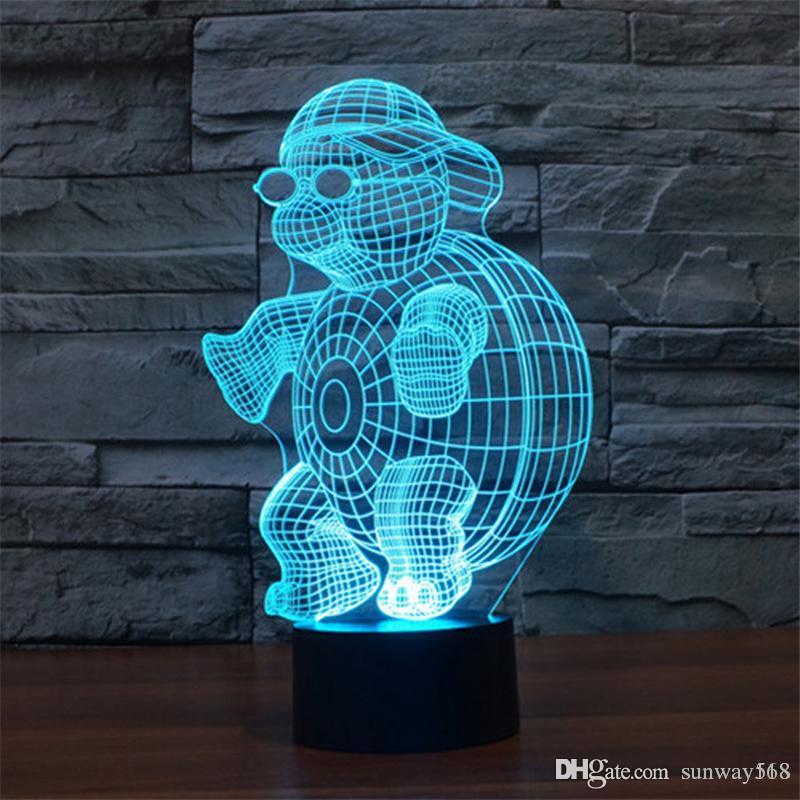 Led Garçons Bébé Lumières Lumière Cadeau Filles Sneaker Lumineux 3d Table Enfants 7 Clignotant Free Lampe Dropship Jouets Couleurs F1JlcK