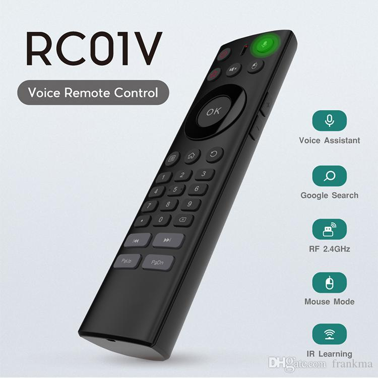 Voice remote control Keyboard Air Mouse TV Box Google Assistant For  Rockchip Amlogic TX3 X96 Mini
