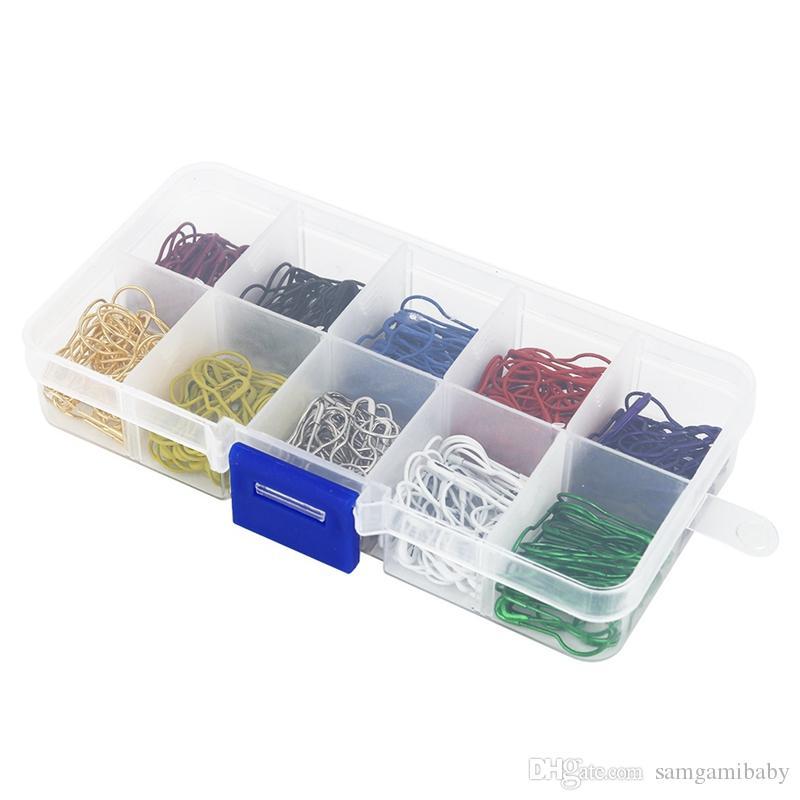 / set birne / kürbis glühbirne geformt sicherheitsnadel gut für Locking stich marker, kleidungsstück tags 10 farben
