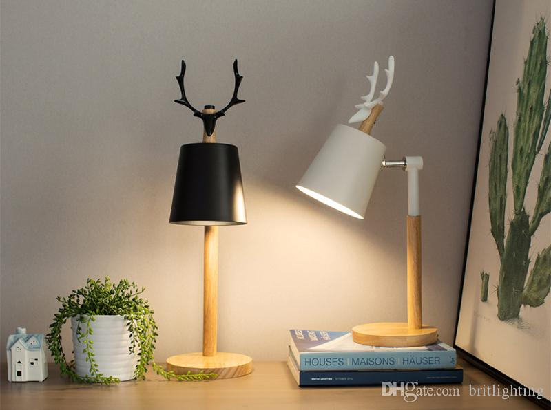 2019 Office Book Desk Lamp Modern Table Lamps For Bedroom Eye ...