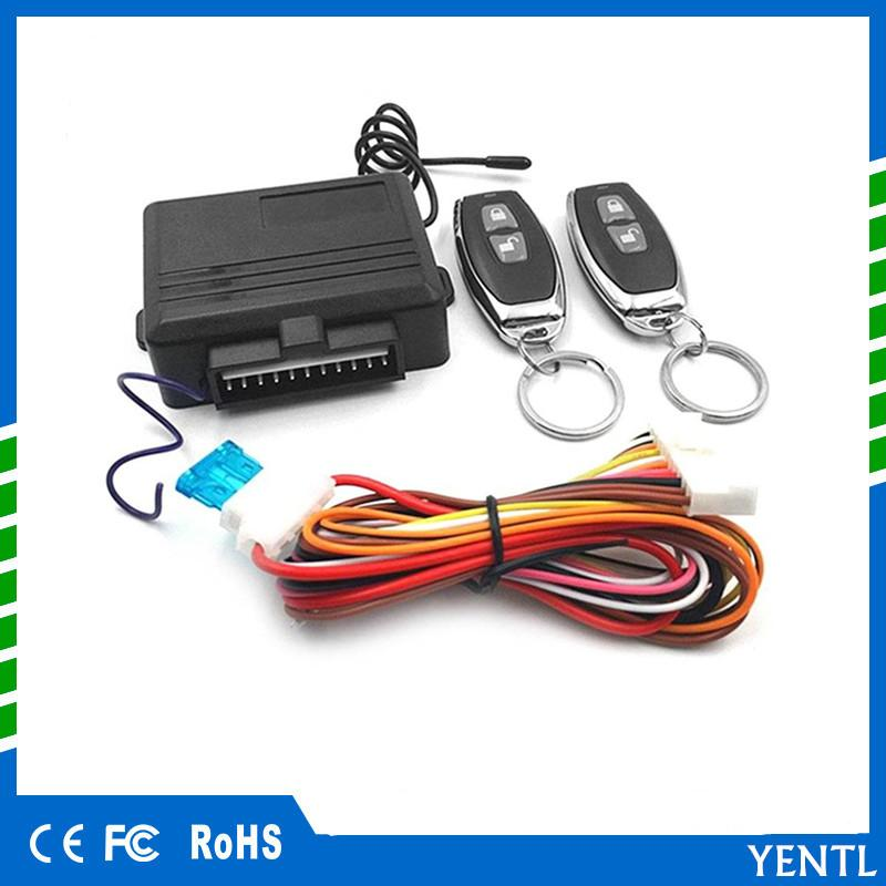 Car Motorcycle Universal Keyless Entry System Car Alarm Systems Device Auto Remote Control Kit Door Lock Vehicle Central Locking And Unlock