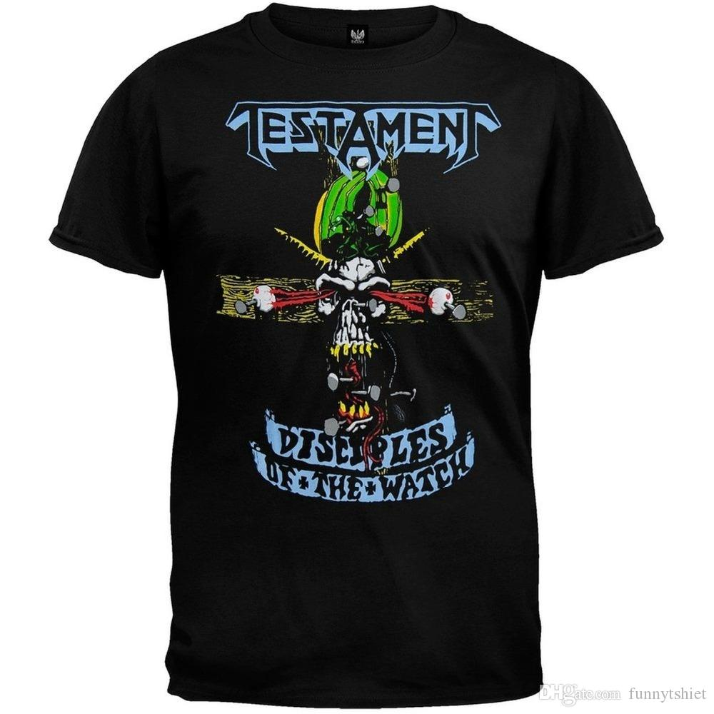92dd31d004cbb5 2018 Crossfit T Shirts Authentic TESTAMENT Band Disciples Of The Watch  Metal T Shirt S M L XL 2XL NEW Hot Sale Casual Clothing Buy T Shirts Online T  Shirt ...