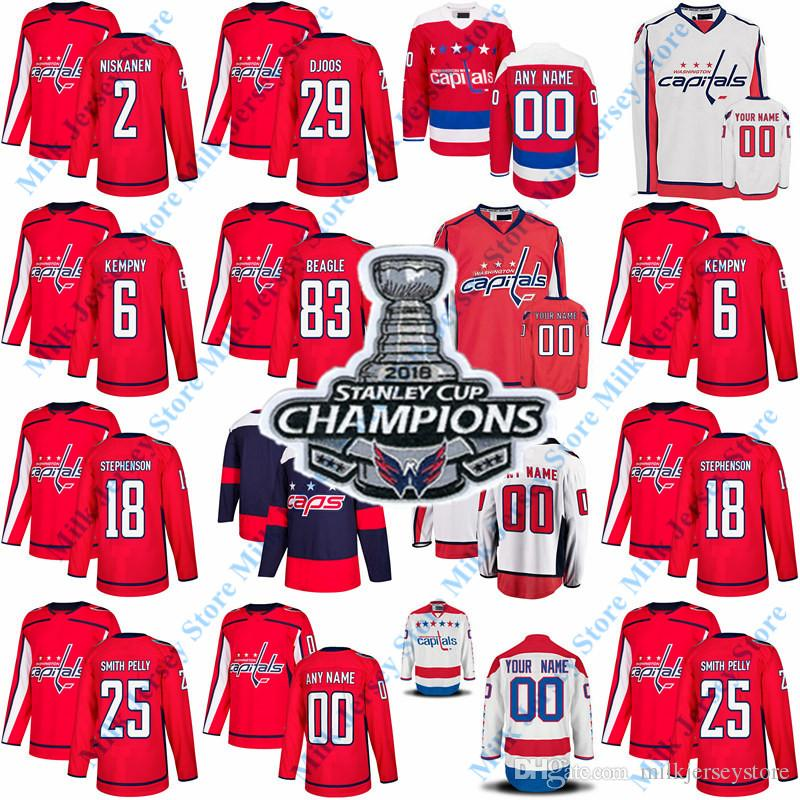 2018 Stanley Cup Champions Washington Capitals Devante Smith-Pelly Matt  Niskanen Jay Beagle Chandler Stephenson Christian Djoos Kempny Matt  Niskanen Jersey ... 6df4e931403a