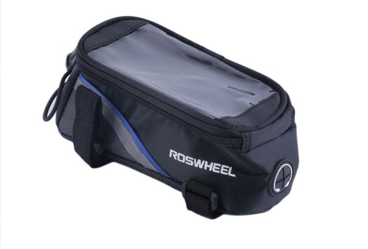 ROSWHEEL BRAND BICICLETTE BORSE BICICLETTA BICICLETTA BORSA IPHONE BORSA PORTAFOGLIO PANNIER BORSA PORTACELLULARE CASE POUCH Moutain Bike Frame Storage