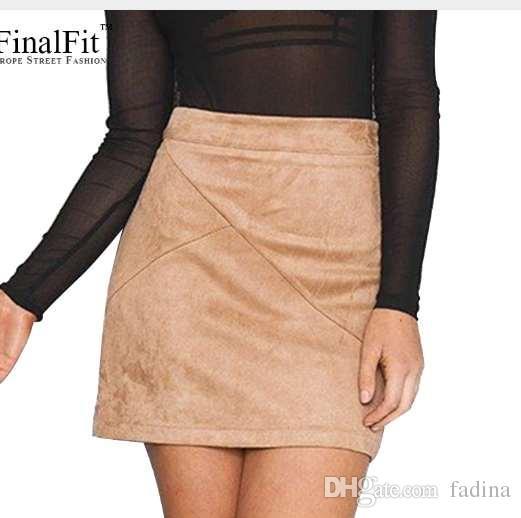 8f87553e7f 2019 High Waist Pencil Skirt Women Suede Tight Bodycon Sexy Short Mini Skirt  Women Faldas Jupe From Fadina, $18.1   DHgate.Com