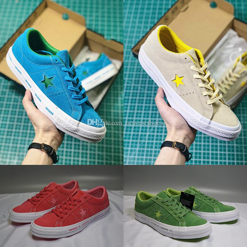bfb12cd6824 2019 TTC One Star X Golf Le Fleur Suede Tyler The Creator Yellow Blue  Purple Pink Women Men Casual Designer Fur Skate Shoes Sneakers From  Newestshoes