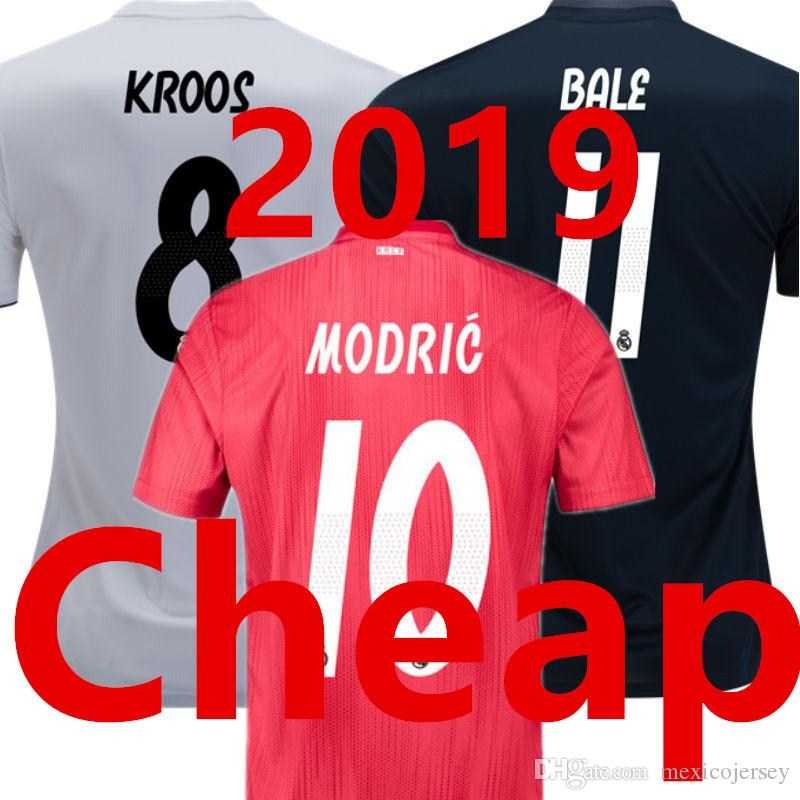 c18806ad05afc 2019 Soccer Jersey REAL MADRID 2019 Camisetas De Futbol Third RED Home  White Away Black Champions League Final 18 19 MODRIC Football Shirt 2018  From ...