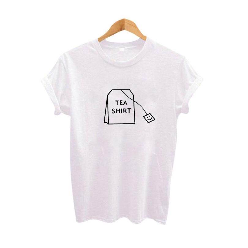 614bf4c05c Compre Humor Camisa De Chá Gráfico Tees Roupas Femininas Verão Engraçado  Camisetas Harajuku Tumblr Hipster Senhoras T Shirt De Clothingdh
