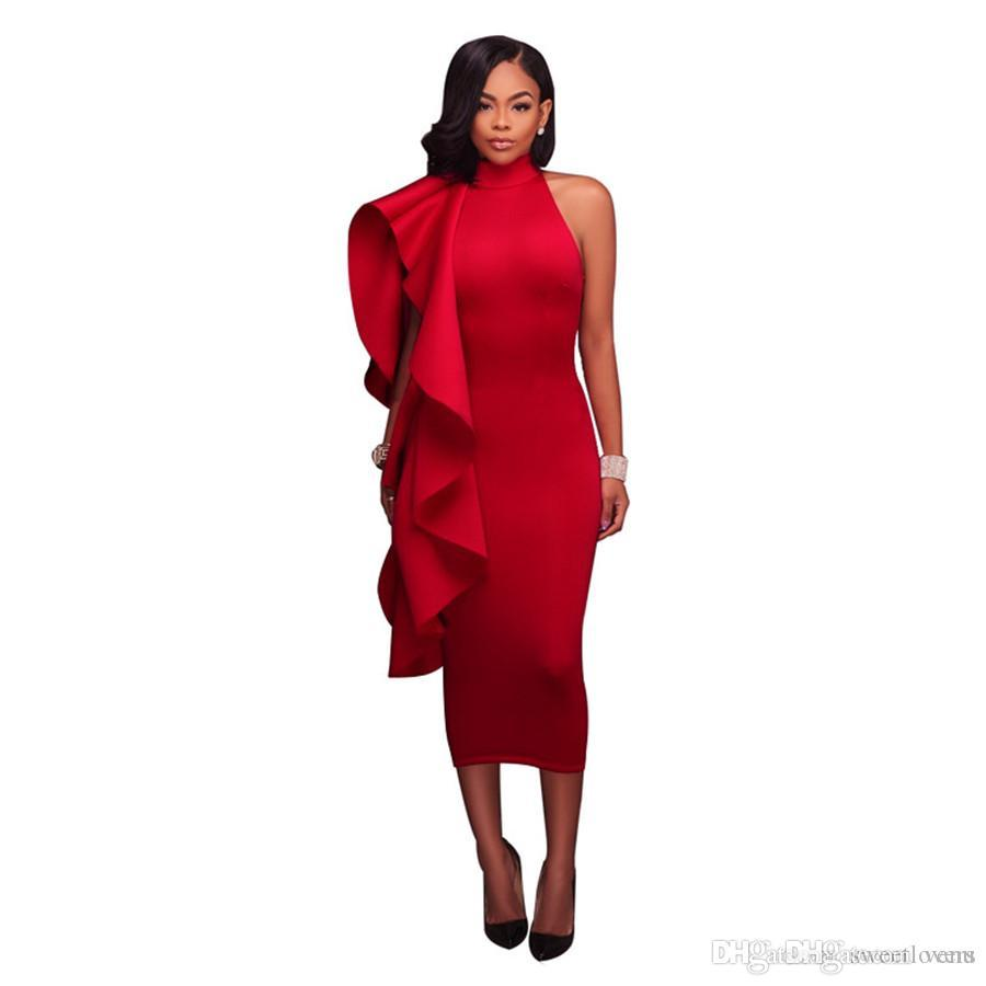 6c57bdcdd0c170 Großhandel Kleider Sommer Kleid Kleid Volants Schwarz Weiß Mitte Calf  Blin27 Ärmelloses Patchwork Sexy Kleid Sommer Frauen Sexy Kleider SW2 2 Von  Venu, ...