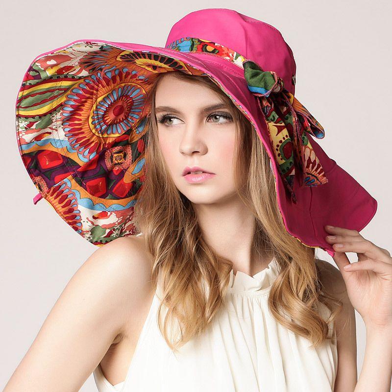 Women Summer Sun Hat For Female Big Brim Beach Floppy Caps Ladies Hats  Floppy Hats From Huazu 0c93bcf76bc