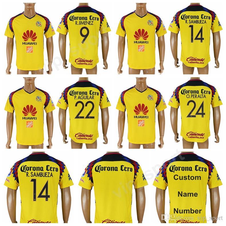 05339c7224d 2019 Club America Jersey 2018 2019 Liga MX Mexico Football Shirt Kits 24  PERALTA 9 JIMENEZ 14 SAMBUEZA 22 AGUILAR 7 WILLIAM 31 DARWIN Q Uniform From  ...