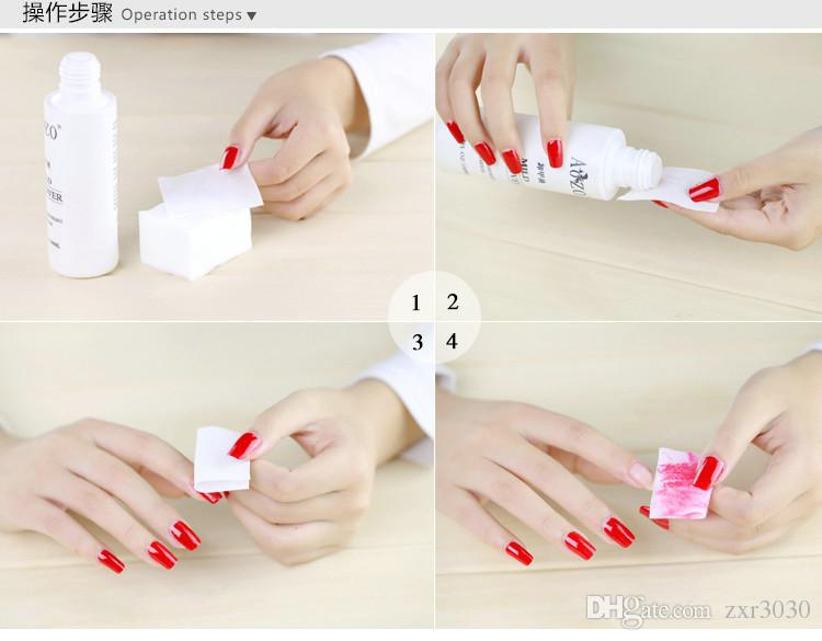 /pack Nail Cotton Wipes UV Gel Nail Tips Polish Remover Cleaner Lint Paper Pad Nail Art Cleaning Manicure Tool