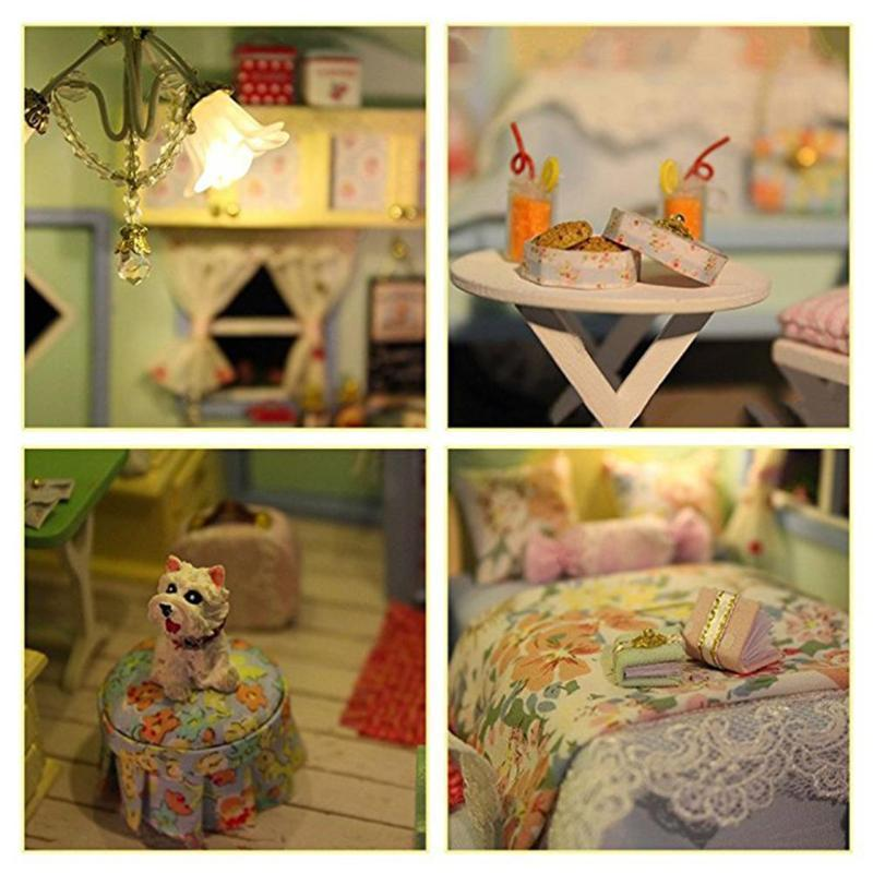 Sweet Baby Girls Doll House Furniture Toys Diy Educational 3d Wooden  Miniature Dollhouse Time Travel Toys Children Gift Dolls House Food Doll  House ...