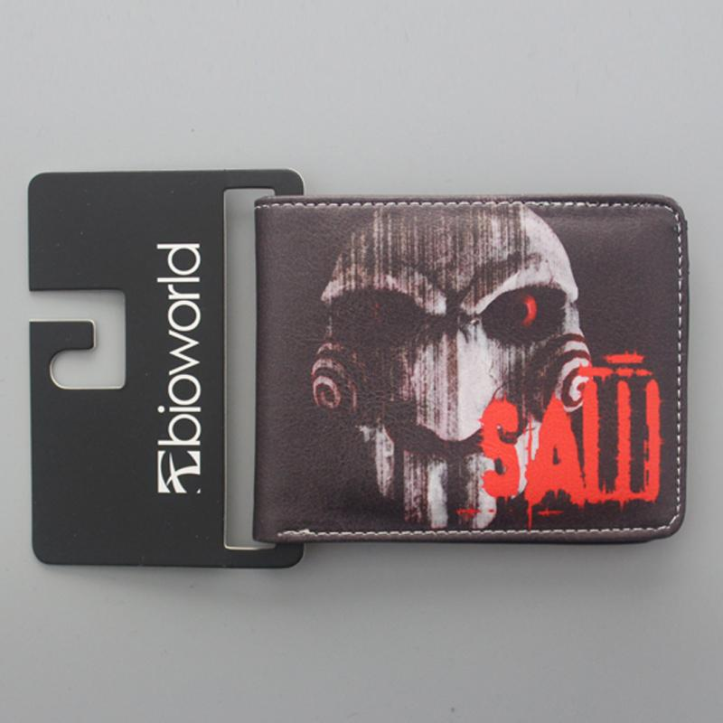 Wholesale Leather Wallets FRIDAY THE 13TH / FREDDY'S NIGHTMARES / SAW Wallet Vintage Men Womens Terror Ghost Movies Wallet Purse