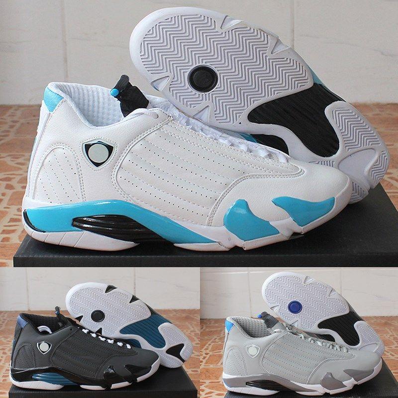 timeless design d4c30 0fc30 2019 Hot 14 14s mens Basketball Shoes Desert Sand DMP Last Shot Indiglo  Thunder Blue Suede Oxidized Grey White mens Sports Sneakers designer