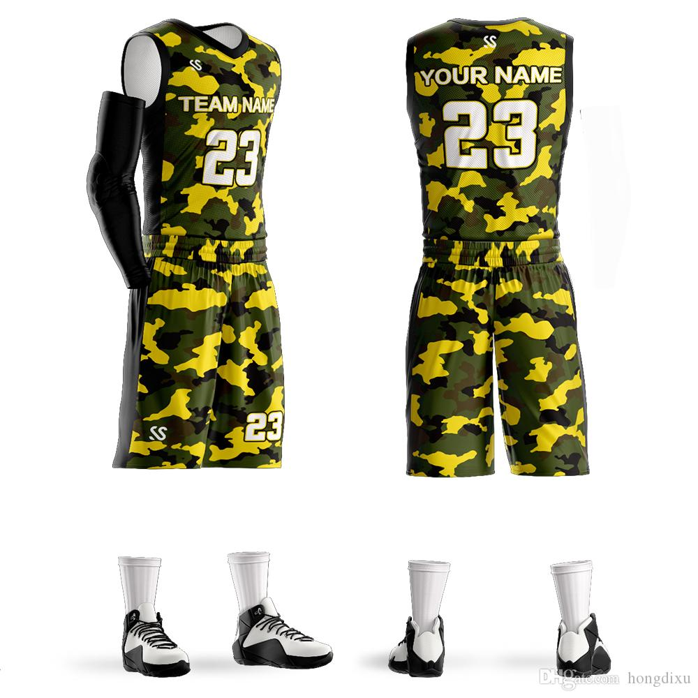 9b4e6a252 2019 Custom New Basketball Jersey Sets Wholesale Customize Any Number Any  Name Mens Youth Personalized Basketball Uniforms From Hongdixu