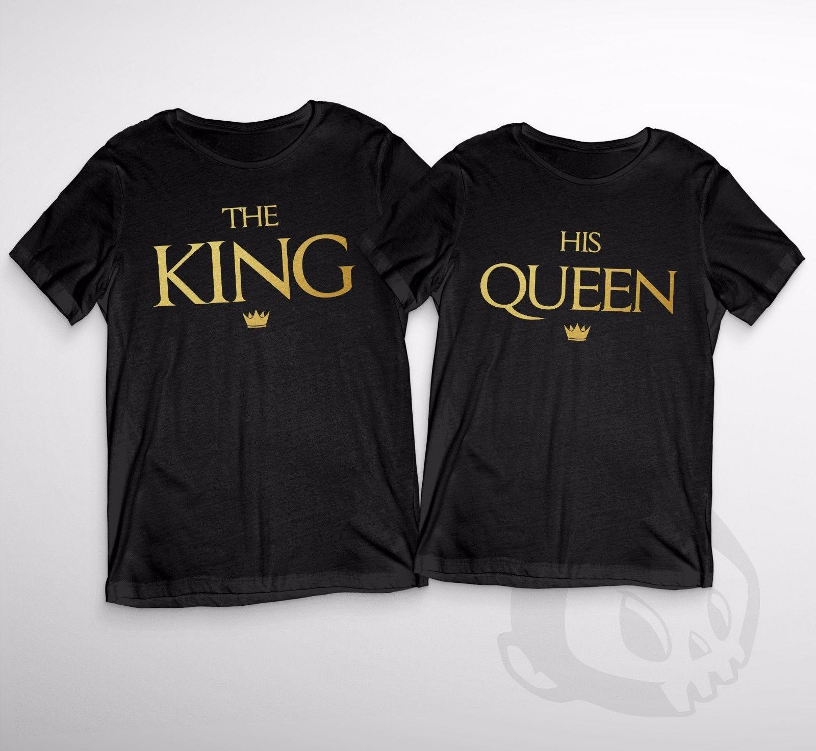 fdd869de98 The King & His Queen Adult Duo T Shirt Novelty Couple Cute Love Present Xmas  Cool Casual Pride T Shirt Men Unisex New Fashion Humorous Shirts Buy Tee  Shirts ...